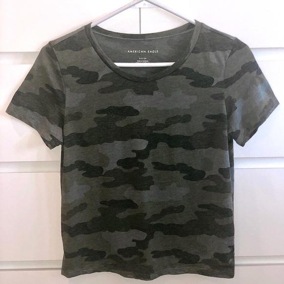 American Eagle Short Sleeve Camo Tshirt